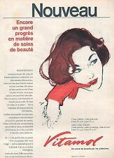 ▬► PUBLICITE ADVERTISING AD VITAMOL produit de beauté vitamine (b) 1958