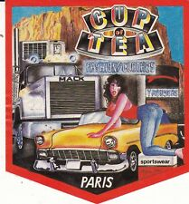 CUP OF TEA FASHION CLOTHES PARIS - AUTOCOLLANT STICKER PUBLICITAIRE VINTAGE