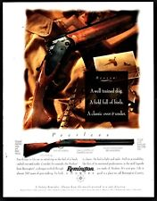 1994 Remington Peerless Ou Over Under Shotgun Ad trained dog & field of birds