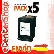 5 Cartuchos Tinta Negra / Negro HP 301XL Reman HP Deskjet 1050 A