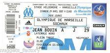 Billet  / Place  OM Olympique de Marseille - OM vs FC Sochaux  ( 097 )