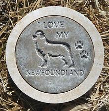 "Newfoundland dog mold stepping stone concrete plaster mold 10"" x 1.5"""
