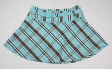 LIMITED TOO GIRLS SIZE 12 SKORT NEW TURQUOISE & BROWN PLAID