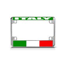 ITALY Flag Metal Motorcycle Bike License Plate Frame Tag Border