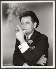 GLENN FORD Frank Capra POCKETFUL OF MIRACLES 1961 Vint Orig Photo SMOKING CIGAR