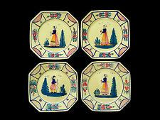 Vintage HB Henriot Quimper France Yellow Soleil Dinner Plates