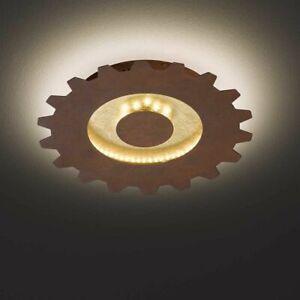 Wofi 9301.02.15.8300 LED Leif 301 Deckenleuchte 18W Goldfarbig Warmweiss 30 cm