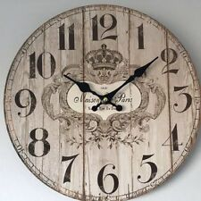 Unbranded Wooden Kitchen Wall Clocks