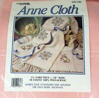 """Vintage Leisure Arts Anne Cloth 1-1/4 Yard 58"""" Wide 18 Count Baby Pink Afghan"""