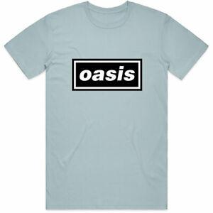 OASIS DECCA BLUE T SHIRT MEN TOP MED LARGE XL MUSIC OFFICIAL TEE