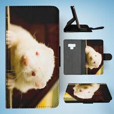 SAMSUNG GALAXY NOTE 9 FLIP CASE WALLET COVER|FERRETS PET ANIMAL 2