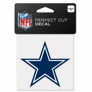 "Dallas Cowboys NFL Football 4"" x 4"" Full Color Logo 4x4 Die Cut Decal"