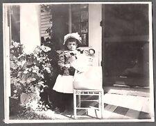 VINTAGE 1890S SHILLABER GIRL TOY DOLL SANBORNTON NEW HAMPSHIRE HAT FASHION PHOTO
