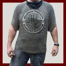 ALUMINIUM CHAINMAIL SHIRT BUTTED CHAINMAIL HAUBERGEON MEDIEVAL COSTUME ARMOUR