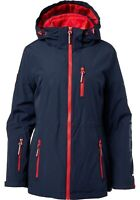 Tommy Hilfiger Women's 3-in-1 Systems Jacket Navy Blue/Red Size XL Warm Coat