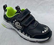 "BNIB Clarks Boys Pass Rex Navy Leather ""Lights"" Shoes E/F/G/H Fitting"