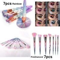 Pro 7pcs Makeup Brushes Set Powder Foundation Eyeshadow Eyeliner Lip Brush Tools