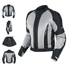 CE Armour Mesh Summer Tex Jacket Motorbike Motorcycle Pants Sonicmoto Grey XS