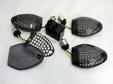 schwarze LED Blinker Kit Suzuki DL 650 1000 V Strom ab 2012 smoked signals