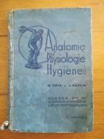ANATOMIE PHYSIOLOGIE HYGIENE - ORIA ET RAFFIN - 3EME - HATIER 1951