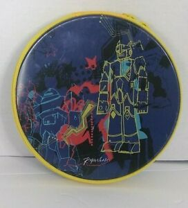 Paperchase Blue Red Black Yellow Transformers Round Tin Zip Pouch CD DVD Case