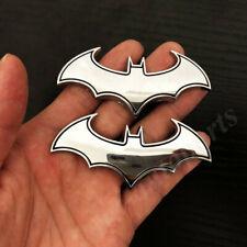 2pcs 3d Metal Chrome Batman Dark Knight Mask Car Emblem Badge Decal Sticker