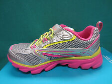 New Skechers Lite Waves SKYBEAM Girl Size 11 Youth Shoes 80617L/SMLT Silver