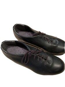 Capezio Tele Tone Jr tap shoes black size 7M