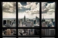 New York Window by Steve Kelley Cityscapes Landscapes Print Poster 24x36