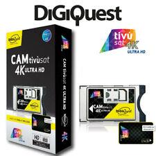 More details for digiquest tivùsat 4k ultra hd cam + pre activated smartcard