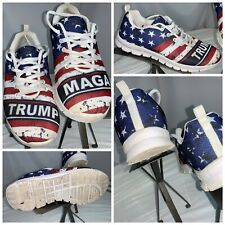 Donald Trump MAGA Tennis Shoes Sz 9.5 Men 11.5 Women American Flag YGI J0S-59