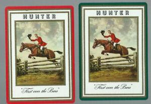 Genuine Swap Vintage Playing Card  Advertising  OLD WIDE x 2