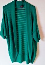 Takeout Green Sweater Cardigan Size Large Made in USA Spring Color Open Front