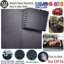 216 SqFt Interlace Puzzle Rubber Foam Gym Fitness Exercise Tile Floor Mat New