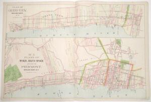 1891 Watson Map Nyack, Piermont, Grand View, NY [Beers' Atlas Hudson River]