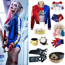 Batman Harley Quinn Suicide Squad Costume Cosplay Veste T shirt Ensemble Short