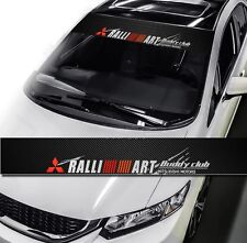 Ralliart Drift Racing Window Windshield Carbon Fiber Vinyl Banner Decal Sticker