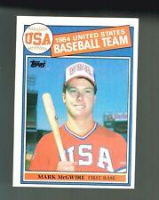 Mark McGwire 1985 Topps #401 Rookie Card - USA - SHARP