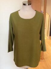 Polyester Scoop Neck 3/4 Sleeve Tops & Shirts for Women