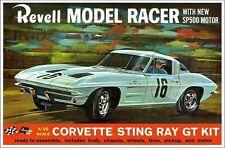 1960s REVELL Corvette Sting Ray GT Kit model box replica magnet - new!