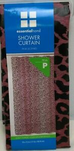 Pink Shower Curtain Leopard Animal Skin Print for Bathroom