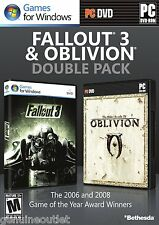 Fallout 3 and Oblivion Double Pack PC Brand New Factory Sealed