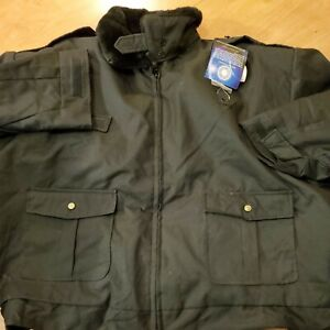 LAWPRO BY QUARTERMASTER DELUXE DUTY COAT POLICE JACKET w/ THINSULATE NAVY 5XL
