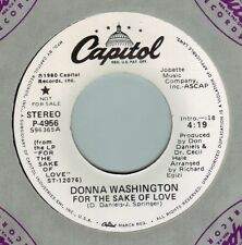 DONNA WASHINGTON For The Sake Of Love ((**NEW 45 DJ**)) from 1980