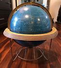 "George F Cram Vintage Celestrial Blue Sky 12"" Rotating Globe Indianapolis EUC"