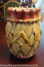 Majolica vase multicolor fine decorations, no marks