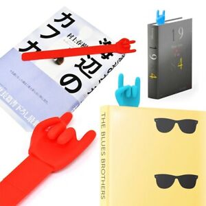 Silicone Rock Pointing Finger Bookmarks Memo 3D Book Mark Novelty Funny Cute New