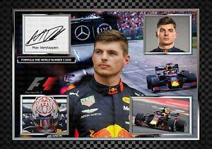 Max Verstappen - Formula 1 - ORIGINAL A4 Signed PHOTO PRINT MEMORABILIA