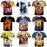 New Men Women Casual Anime Dragon Ball Z Print 3D T-Shirt Short Sleeve Tee S-5XL