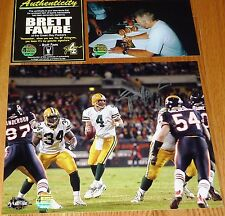 GREEN BAY PACKERS BRETT FAVRE 4 signed vs Bears Brian Urlacher 8x10 PHOTO BF COA